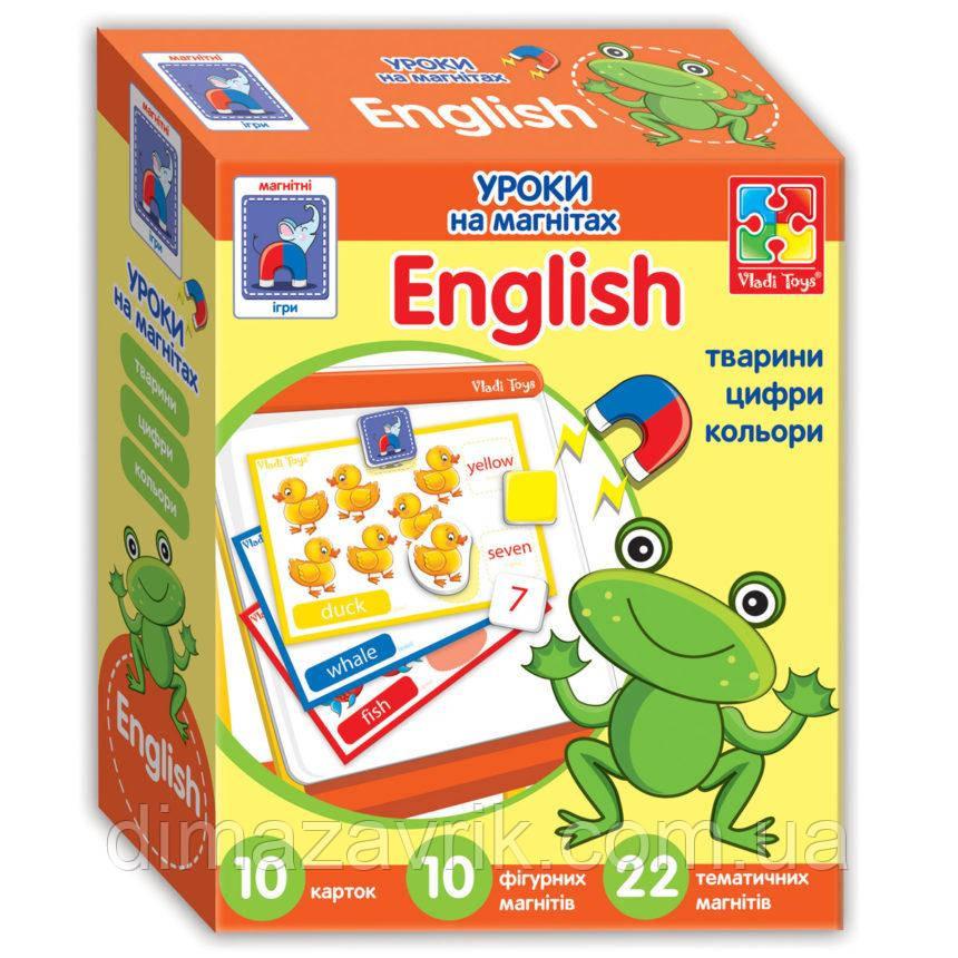 """Уроки """"Англійська на магнітах. Тварини"""" (укр) VT1502-16 Vladi Toys"""
