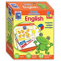 """Уроки """"Англійська на магнітах. Тварини"""" (укр) VT1502-16 Vladi Toys, фото 1"""