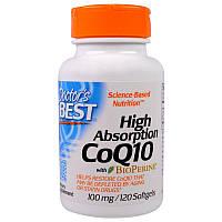 Коэнзим Q10, 120 кап,100 мг с биоперином и высокой усваиваемостью, CoQ10, Doctor's Best,