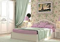 Белая двуспальная кровать Лира