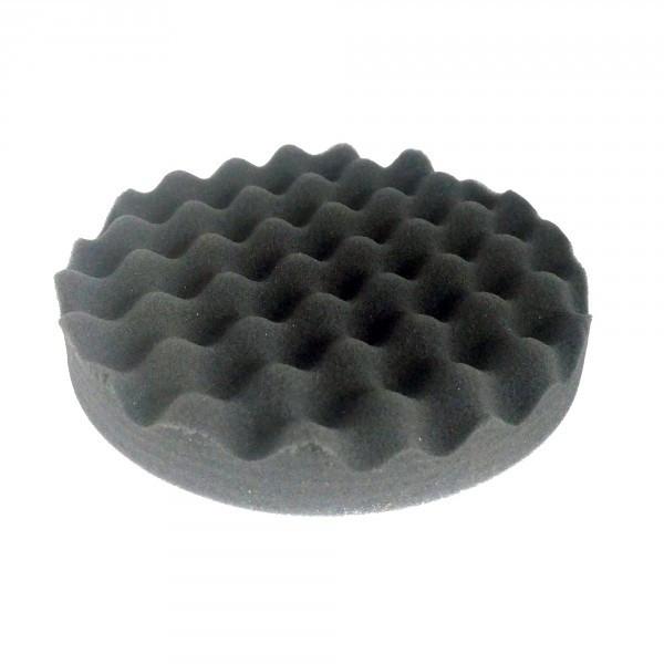 Круг полировальный волнистый черный WaveFinish мягкий на липучке 150мм