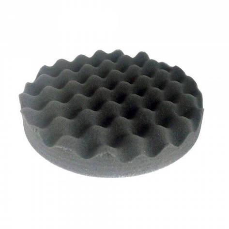 Круг полировальный волнистый черный WaveFinish мягкий на липучке 150мм, фото 2