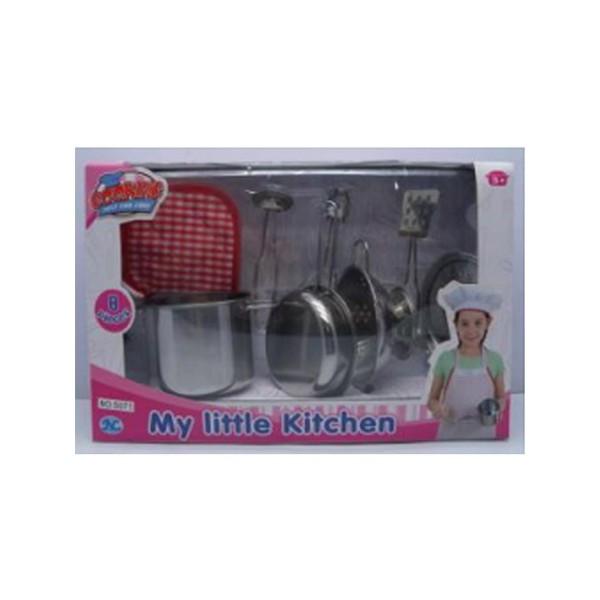 Набор посуды детский Кухонный набор 8 предметов S071