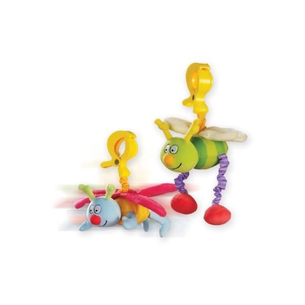 Погремушка на прищепке ЖУЖУ Taf Toys в ассортименте Дрожащие Бабочка и Пчёлка