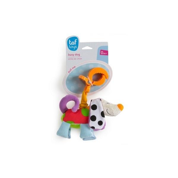 Погремушка на прищепке - Дрожащий Пёсик и Слоник Taf Toys