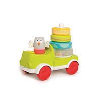 Развивающая машинка с пирамидкой Совушка Малышка Taf Toys