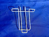 Полка карман 13/17см для продажи полиграфии и колгот на металлическую торговую решётку