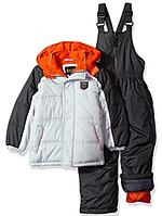 Зимний комбинезон iXtreme (США) раздельный серый с оранжевым для мальчика от 2 до 4 лет