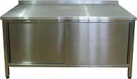 Стіл виробничий, тумбочки з дверима купе, 1 полиця, висота 850 мм