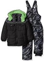 Зимний  комбинезон iXtreme (США) раздельный серо-черный с салатовым для мальчика от 4 до 7 лет