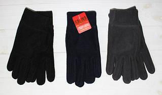 Перчатки стильные мужские утепленные флис 100%