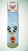 """Новогодние носки женские  зимние махровые внутри высокие  хлопок """"EKMEN """", фото 1"""