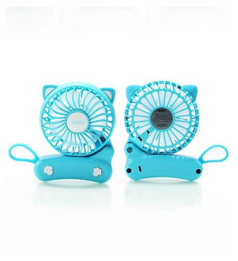Cat foldable  Fan F14 Blue