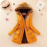 Куртка женская демисезонная с капюшоном на меху