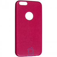 Чехол накладка кожаный для Apple iPhone 6 розовый
