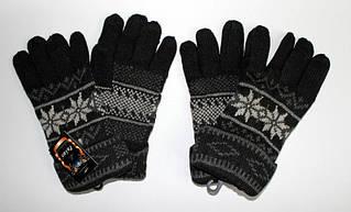 Перчатки стильные мужские утепленные с новогодними узорами