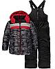 Зимний комбинезон iXtreme (США) раздельный серо-черный с красным для мальчика от 2 до 4 лет