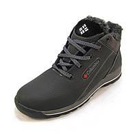 Ботинки подросток Columbia кожаные с мехом черные (р.36,38,39)