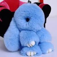 Брелок Кролик голубой