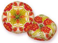 Набор для вышивания крестом Риолис 1620АС Бискорню Маков цвет 8х8 см