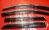 Дефлекторы окон (ветровики) с хром полосой (кантом-молдингом) Hyundai tucson TL(хюндай туксон 2015г+)