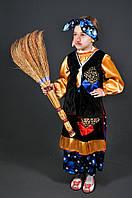 Карнавальный костюм Баба Яга Ведьма для девочки. Детский новогодний маскарадный костюм