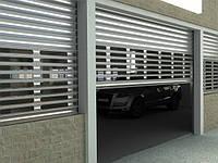 Защитные наружные ролетные ворота для гаража Алютех, профиль EV/77 смотровой