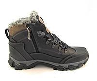 Ботинки подросток SBF кожаные с мехом черные (р.37,38)