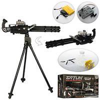 Миниган игрушечный пулемет Toy Gun Minigun M134, стреляет очередями, водяные пули