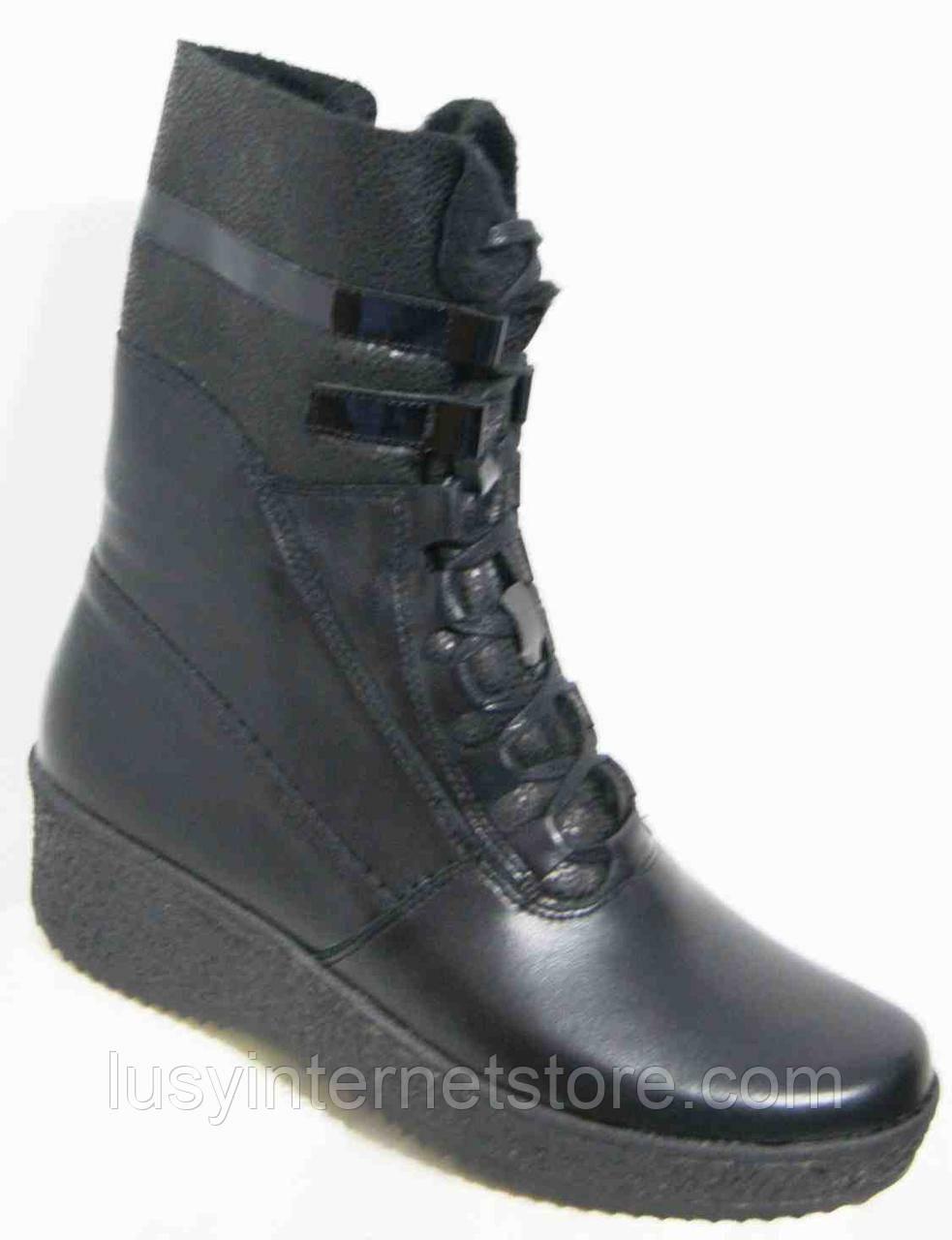 Женские ботинки зимние большого размера, женская обувь больших размеров от производителя модель МИ06013