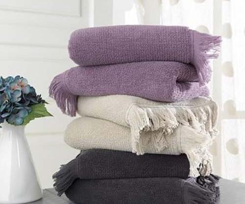 Soft cotton банное полотенце FRINGE 75X150 antracit. антрацит