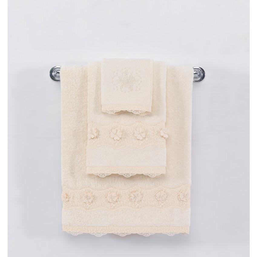 Soft cotton лицевое полотенце YONCA 50х100  кремовый
