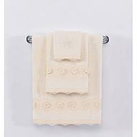 Soft cotton рушник лицьове YONCA 50х100 krem. кремовий