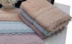 Soft cotton банний рушник VICTORIA 85х150 lila ліловий