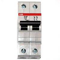 Автоматический выключатель АВВ SH 202- В25 A, 25А двухполюсный