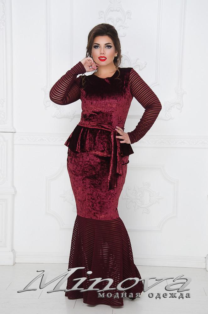 f5761548f6a Бархатное платье годе с баской с 50 по 56 размеры - Интернет-магазин  женской одежды