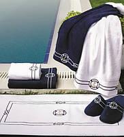 Soft cotton лицевое полотенце MARINE  50х100 LACIVERT. тёмно-синий