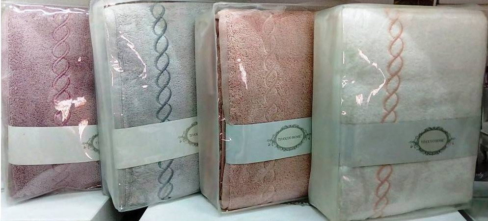 Tivolyo Home CORDA      50*100  белый/бирюзовый