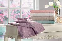 Tivolyo Home набор полотенец FANCY  3 предмета  бежевый