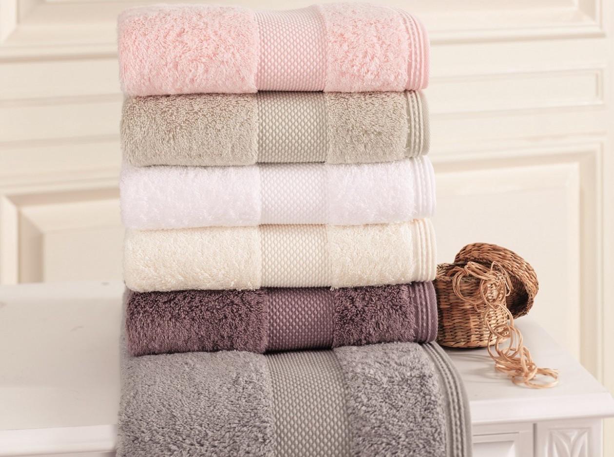 Soft cotton лицевое полотенце DELUXE 50х100 ekru. млочный
