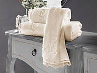 Soft cotton лицевое полотенце LUNA  50х100 Ekru молочный