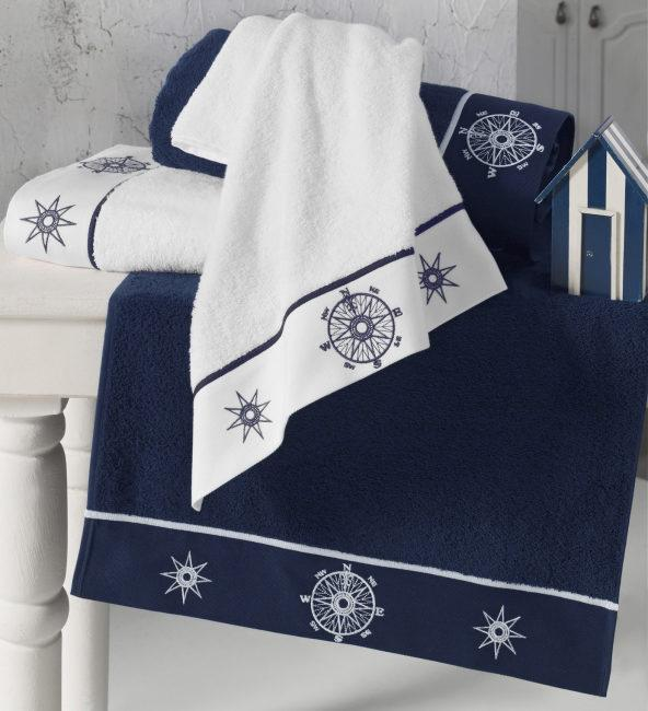 Soft cotton банное полотенце MARINE LADY 85х150 beyaz. белый
