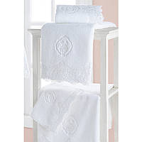 Soft cotton лицевое полотенце DIANA  50х100 BEYAZ. белый