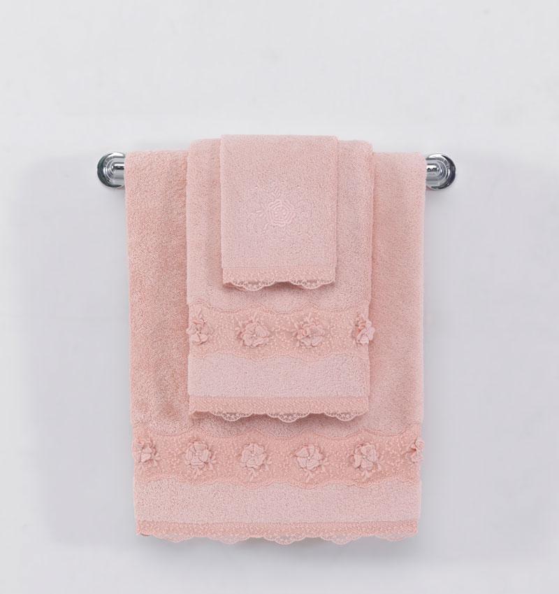 Soft cotton лицевое полотенце YONCA 50х100  тёмно-розовый