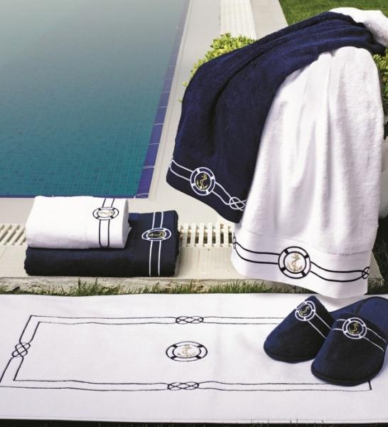 Soft cotton лицевое полотенце MARINE  50х100 BEYAZ. белый