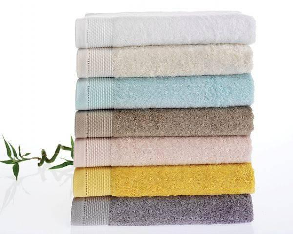 Soft cotton банное полотенце BAMBU 85х150  жёлтый