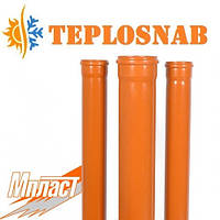 Труба ПВХ Мпласт Ø500x9,8x2000 SN2 для наружной канализации