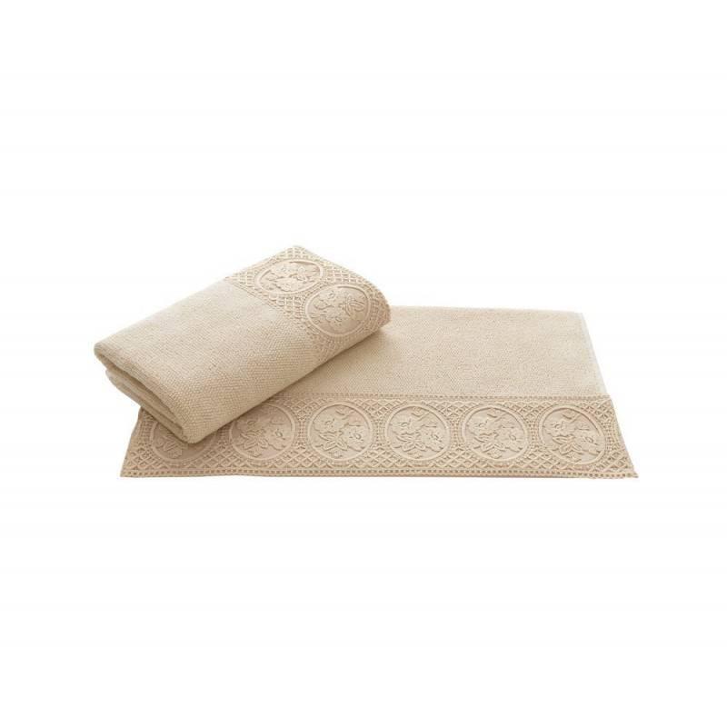 Soft cotton банное полотенце ELIZA 85*150 BEJ  бежевый