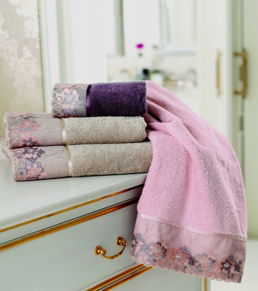 Soft cotton лицевое полотенце LALEZAR  50х100  тёмно-розовый