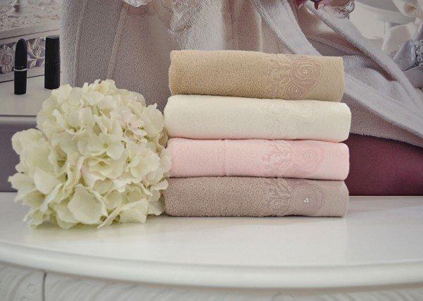 Soft cotton банное полотенце MELIS 85х150  молочный